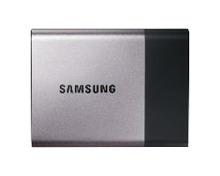Samsung Portable SSD T3 MU-PT1T0B - Solid-State-Disk - verschlüsselt - 1 TB - extern (tragbar) - USB 3.1 Gen1 - 256-Bit-AES