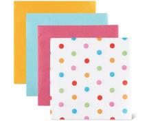 Servietten mit Punkte-Design im 4er-Pack
