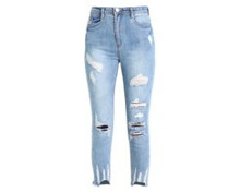 SINNER HIGH WAISTED AUTHENTIC RIPPED - Jeans Skinny Fit - blue @ Zalando.ch