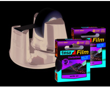 Tesa Tesa Abroller Easy Tischabroller Easy Cut mit 3 Klebebandrollen, schwarz