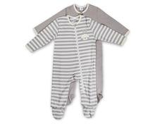 Texstar Baby Pyjama mit Fuss Girls oder Boys, in diversen Farben und Motiven, Grössen 62/68–98/104, Duo