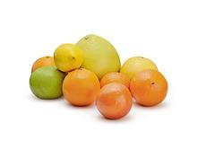 Tragtasche füllen mit diversen Zitrusfrüchten