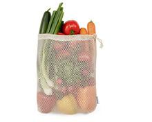 Tragtasche oder Multibag füllen mit Gurken, Radieschen, Peperoni, Rispentomaten, Karotten, Bundzwiebeln