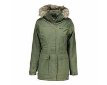 Trespass Damen Wintermantel Garner DLX mit Kapuze dunkelgrün