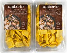 Umberto Ravioli mit Pilzen