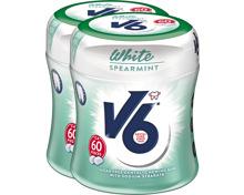 V6 Kaugummi Bottle White Spearmint