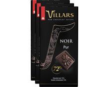 Villars Tafelschokolade Dunkel Pur