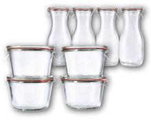 WECK® Einmachgläser/-flaschen, 4-teilig