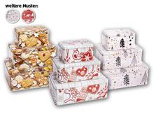 Weihnachts-Gebäckdosen-Set, 3-teilig