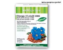 WELL&ACTIVE Omega-3 Leinöl Kapseln