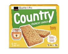 Z.B. Coop Country Riegel Crunchy Snack Honig, 9 x 19 g 2.25 statt 3.25