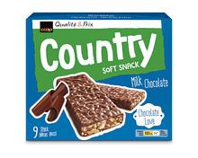 Z.B. Coop Country Riegel Soft Snack Chocolat au lait, 9 x 28 g 2.75 statt 3.95