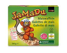 Z.B. Coop JaMaDu Maiswaffeln, 130 g 1.15 statt 1.65