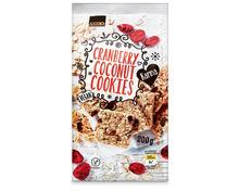 Z.B. Coop Karma Cranberry Coconut Cookies, 200 g 2.55 statt 3.40