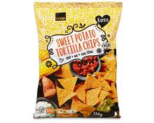 Z.B. Coop Karma Sweet Potato Tortilla Chips, 150 g 2.70 statt 3.60