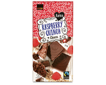 Z.B. Coop Karma Tafelschokolade Raspberry Quinoa Choco, Fairtrade Max Havelaar, 75 g 1.75 statt 2.20