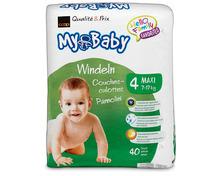 Z.B. Coop My Baby Windeln, Grösse 4, Maxi, 3 x 40 Stück 22.40 statt 33.60