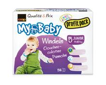 Z.B. Coop My Baby Windeln, Grösse 5, Junior, 114 Stück, Profit Pack 16.80 statt 33.60