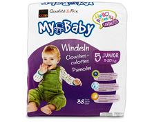 Z.B. Coop My Baby Windeln, Grösse 5, Junior, 3 x 38 Stück 21.60 statt 32.40