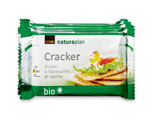 Z.B. Coop Naturaplan Bio-Cracker Dinkel, 208 g 2.95 statt 3.70
