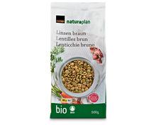 Z.B. Coop Naturaplan Bio-Linsen braun, 500 g<br /> 2.35 statt 2.95