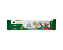 Z.B. Coop Naturaplan Bio-Pizzateig, rund, ausgewallt, 2 x 330 g, Duo 5.10 statt 6.40