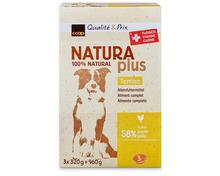 Z.B. Coop Naturaplus Dog Terrine mit Huhn, Schweiz, 3 x 320 g 8.70 statt 11.60
