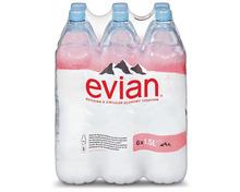 Z.B. Evian, 6 x 1,5 Liter 3.95 statt 5.95