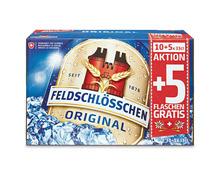 Z.B. Feldschlösschen Original, 15 x 33 cl 10.90 statt 16.35