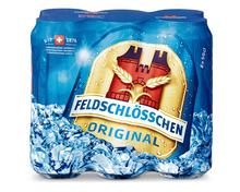 Z.B. Feldschlösschen Original Bier, Dosen, 6 x 50 cl 7.35 statt 10.50
