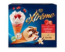 Z.B. Frisco Extrême Cornets Erdbeere/Vanille, 6 x 145 ml 7.90 statt 9.90
