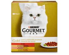 Z.B. Gourmet Gold Zarte Häppchen in Sauce, 8 x 85 g 5.10 statt 6.40