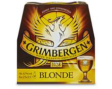 Z.B. Grimbergen D'Abbaye Bier Blonde, 6 x 25 cl 9.20 statt 11.50