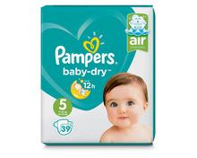 Z.B. Pampers Baby-Dry, Grösse 5, 3 x 39 Stück 33.60 statt 50.40