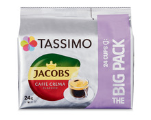 Z.B. Tassimo Caffè Crema Classico, Big Pack, 24 Kapseln 5.90 statt 8.45