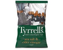 Z.B. Tyrrells Chips Sea Salt & Cider Vinegar, 150 g 3.85 statt 5.50