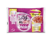 Z.B. Whiskas Ragout Junior 2–12 Monate, Geflügel in Gelée, 4 x 85 g 2.75 statt 3.45
