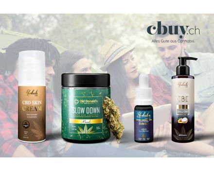 40% auf alles - Schweizer Hanf-Produkte von cbuy.ch