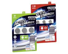 ACTIV ENERGY® KNOPFZELLEN BATTERIEN