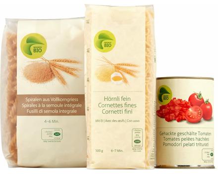 Alle Bio-Teigwaren, -Pastasaucen und -Tomatenkonserven