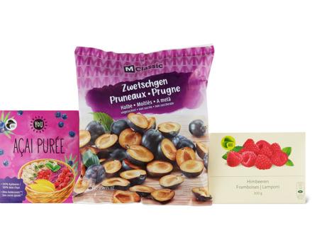 Alle Früchte, Beeren und Marroni-Produkte sowie Smoothies