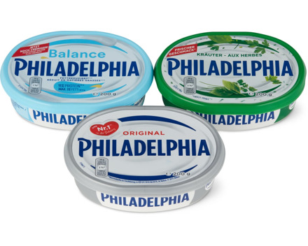 Alle Philadelphia Frischkäse