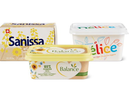Balance-, Sanissa- und Délice-Margarinen