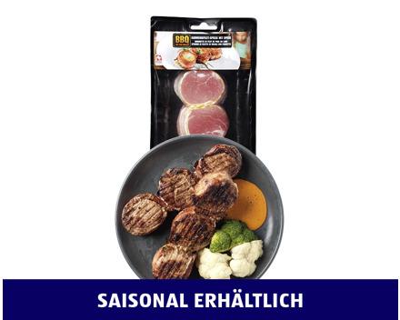 BBQ SCHWEINSFILET- MÉDAILLONS MIT SPECK