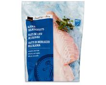 Coop Alaska-Seelachsfilet, MSC, aus Wildfang, Nordpazifik, tiefgekühlt, 2 kg