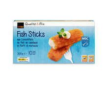 Coop Fish Sticks Dorsch, MSC, aus Wildfang, Nordostatlantik, tiefgekühlt, 3 x 300 g