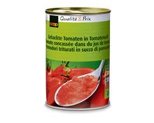 Coop gehackte Tomaten in Tomatensaft, 6 x 400 g, Multipack