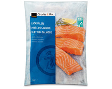 Coop Lachsfilets, ASC, aus Zucht, Färöer-Inseln, tiefgekühlt, 1 kg