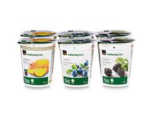 Coop Naturaplan Bio-Jogurt Mango, Fairtrade Max Havelaar, Heidelbeere und Brombeere, 6 x 180 g