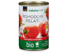 Coop Naturaplan Bio-Tomaten, geschält, 3 x 280 g, Trio